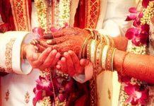 bride ran with pandit