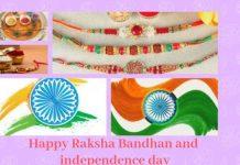 Happy Raksha Bandhan and independence dayWishes Images