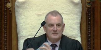 New Zealand Speaker Cradles MP's Baby During Parliament Debate Photo